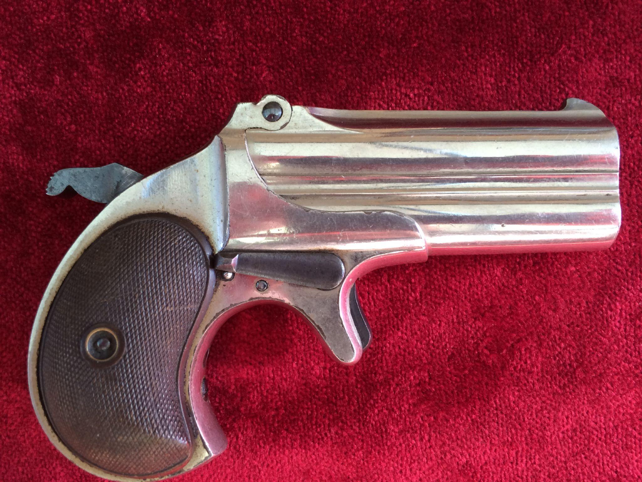 X X X SOLD X X X A fine antique Remington  41 rimfire double
