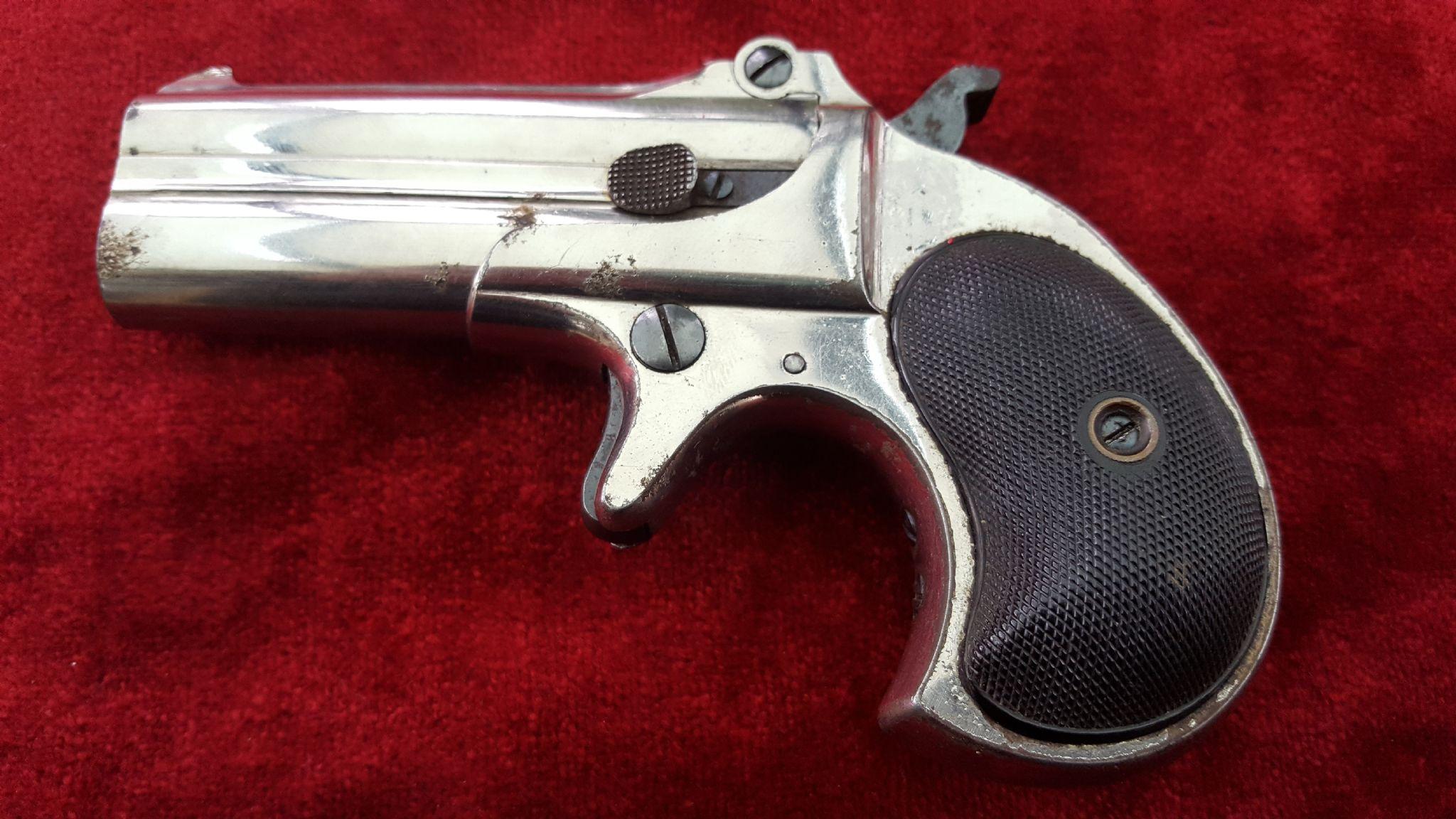X X X SOLD X X X A good antique Remington  41 rimfire double