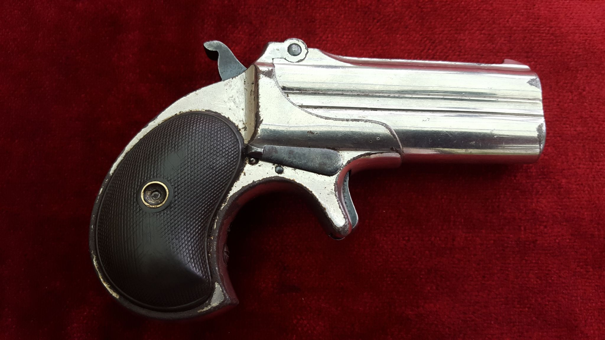 X X X SOLD X X X Remington  41 rimfire gambler s Derringer